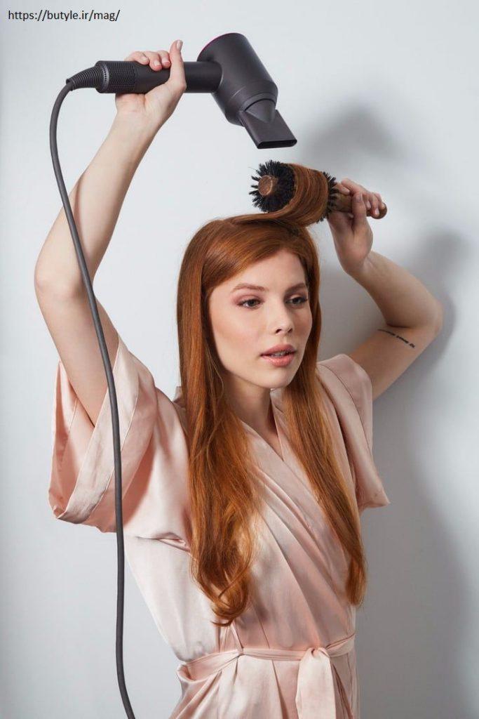 سشوار کردن مو